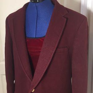 Jackets & Blazers - 100% Wool burgundy vintage jacket Size 2X
